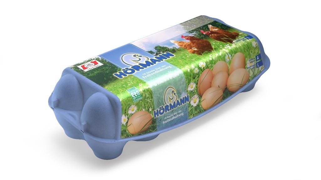 10 Frische Eier aus Freilandhaltung, Größe L