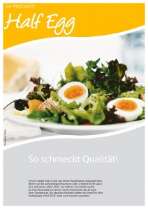 Half Egg - fertig gekochte und geschälte Eier, halbiert
