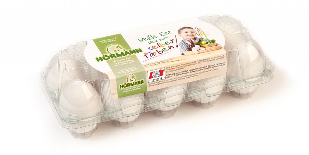 Hörmann weiße Eier aus Bodenhaltung, Gew.kl. M-L, Gütekl. A – 10er