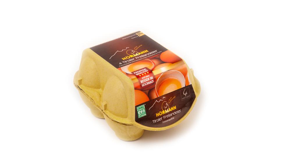 4 frische Eier aus Freilandhaltung, Premiumqualität, Größe M-L